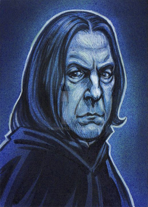 Harry Potter Professor Snape Sketch Card by timshinn73