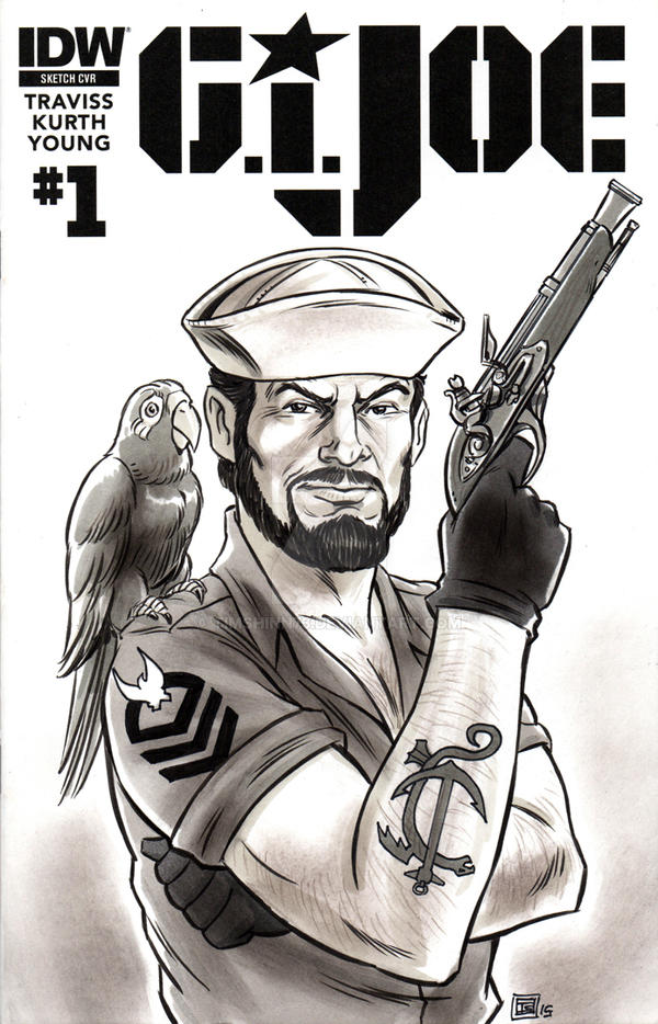 G.I. Joe Shipwreck Sketch Cover by timshinn73