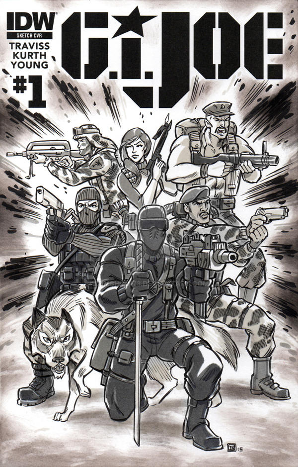 G.I. Joe Sketch Cover by timshinn73