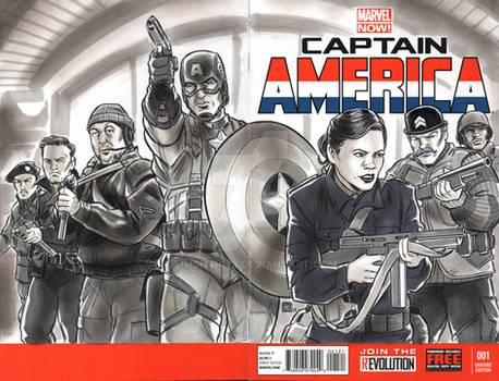 Captain America Agent Carter Sketch Cover