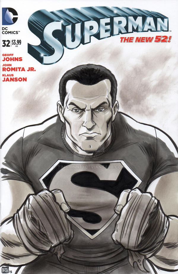 Superman Sketch Cover by timshinn73