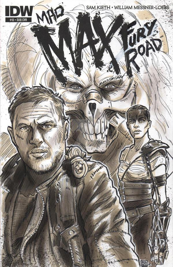 Mad Max Fury Road Sketch Cover by timshinn73