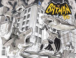 Batman 66 VS Sharknado Sketch Cover