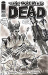 The Walking Dead Wolverine Sketch Cover