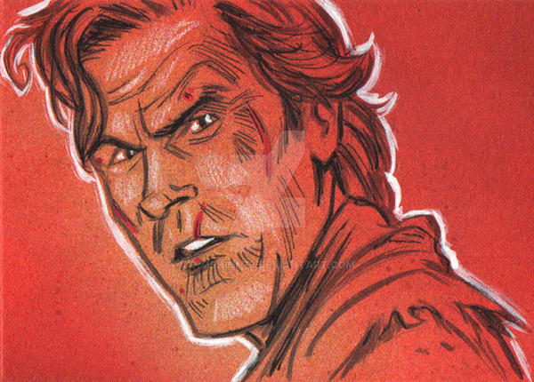 Army Of Darkness Ash Sketch Card by timshinn73
