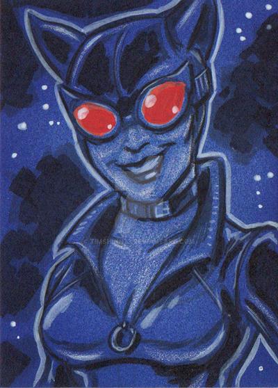 Catwoman Sketch Card by timshinn73