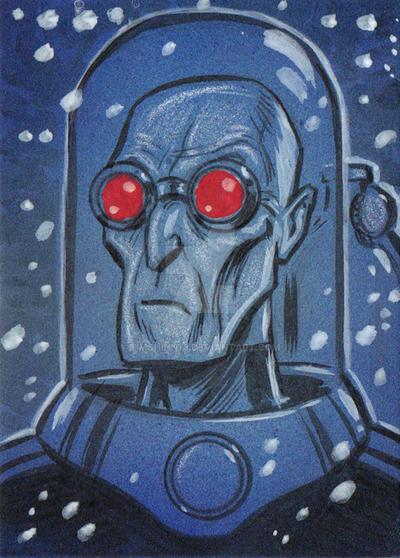 Mr Freeze Sketch Card by timshinn73