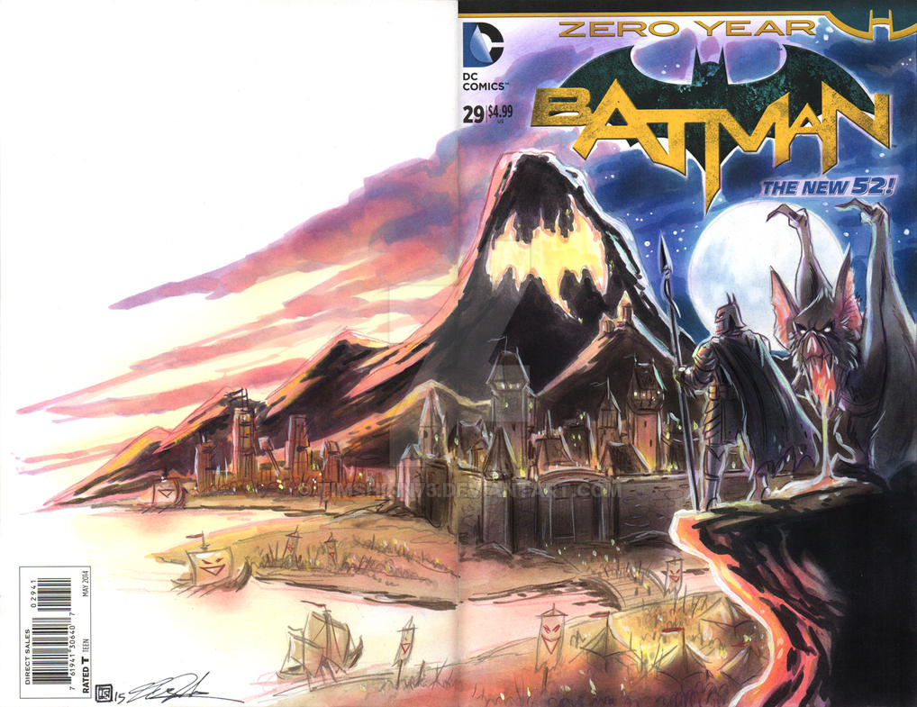 Batman Sketch Cover Commission by timshinn73