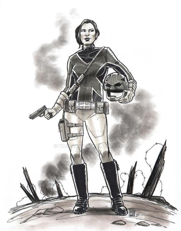 Agent Carter Captain Britain Commission by timshinn73