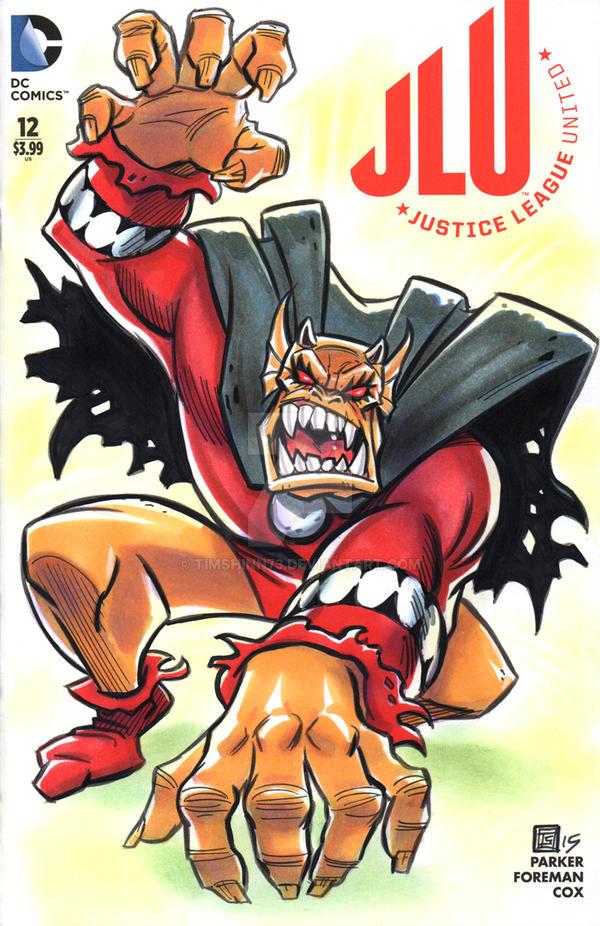 Etrigan The Demon JLU Sketch Cover by timshinn73