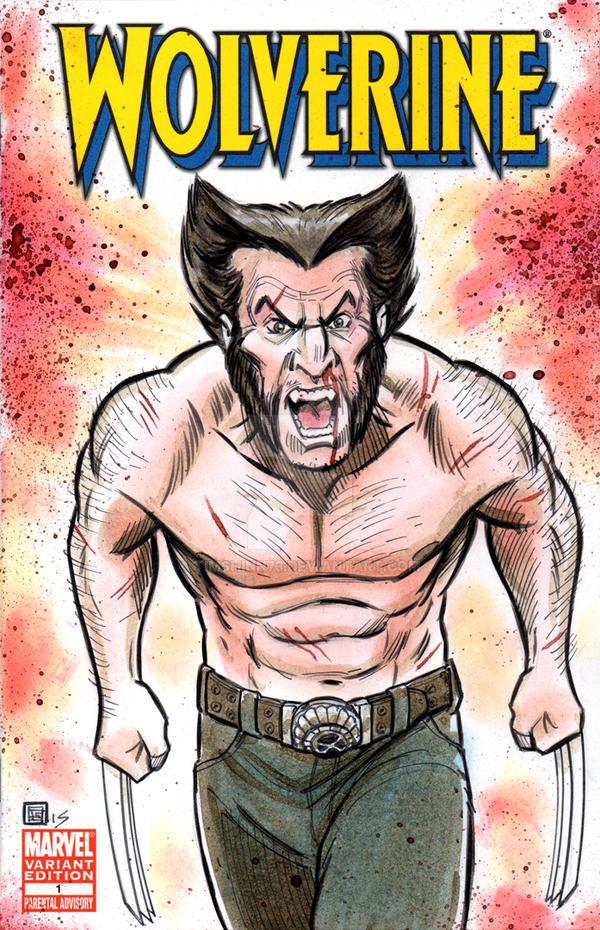 Wolverine Sketch Cover by timshinn73
