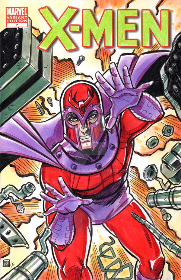 Magneto X-Men Sketch Cover by timshinn73