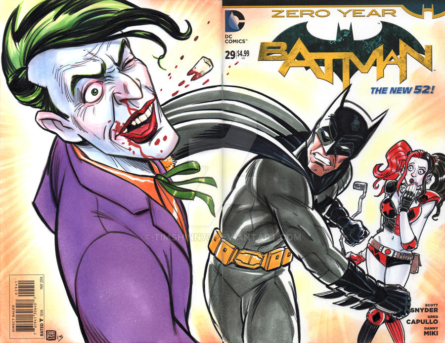 Batman VS Joker Sketch Cover by timshinn73