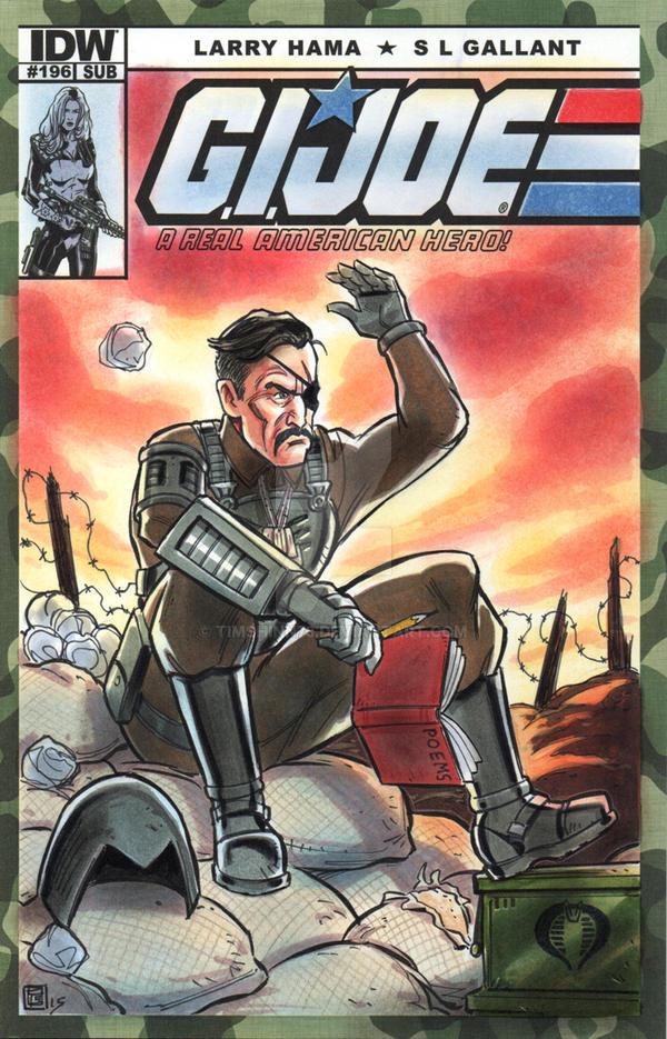 Major Bludd GI Joe Sketch Cover by timshinn73