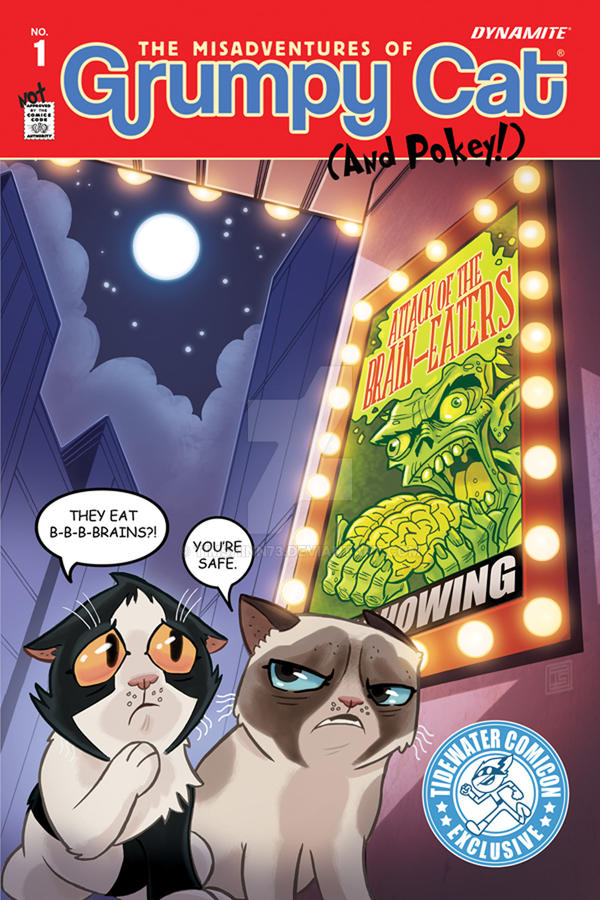 Grumpy Cat 1 Exclusive Tidewater Comicon Cover by timshinn73