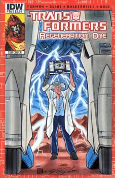 Transformers Dr Arkeville Starscream Sketch Cover