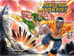 Power Man and Iron Fist Sketch Cover
