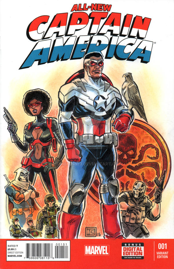 Captain America Sketch Cover by timshinn73