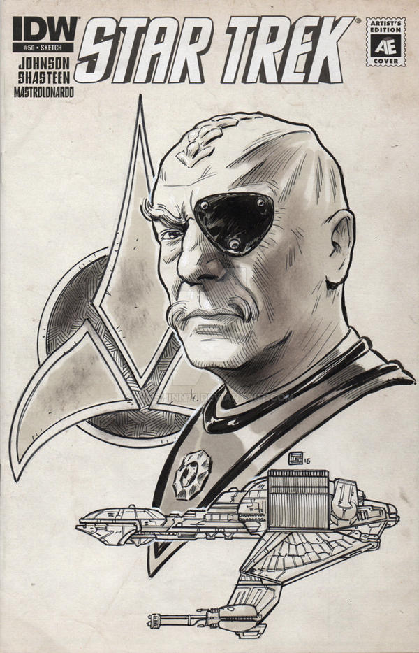 Star Trek General Chang Sketch Cover by timshinn73