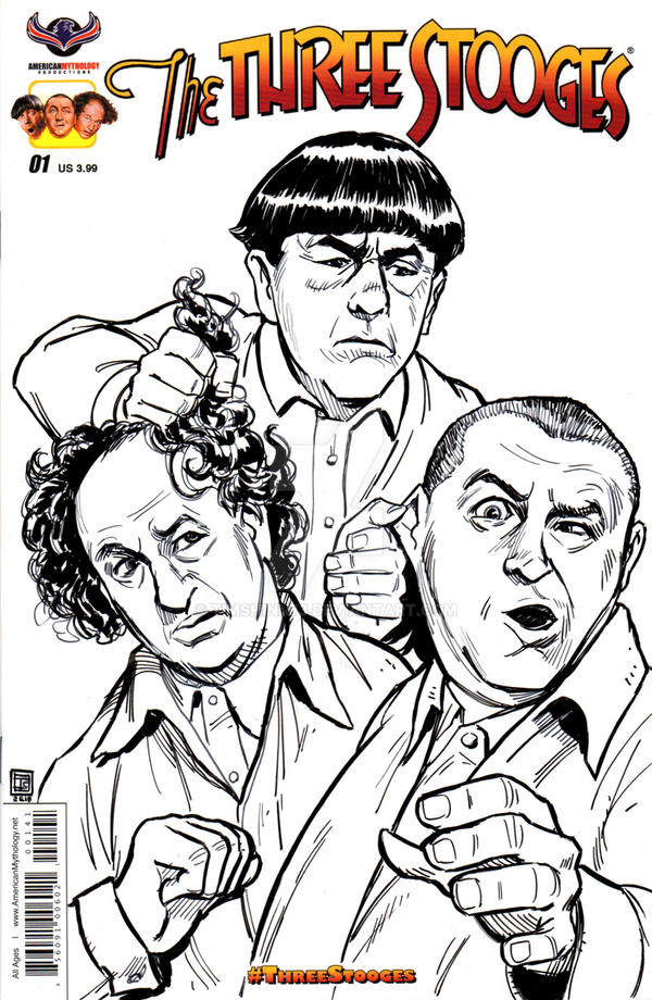 Three stooges sketch cover by timshinn73 on deviantart for The three stooges coloring pages
