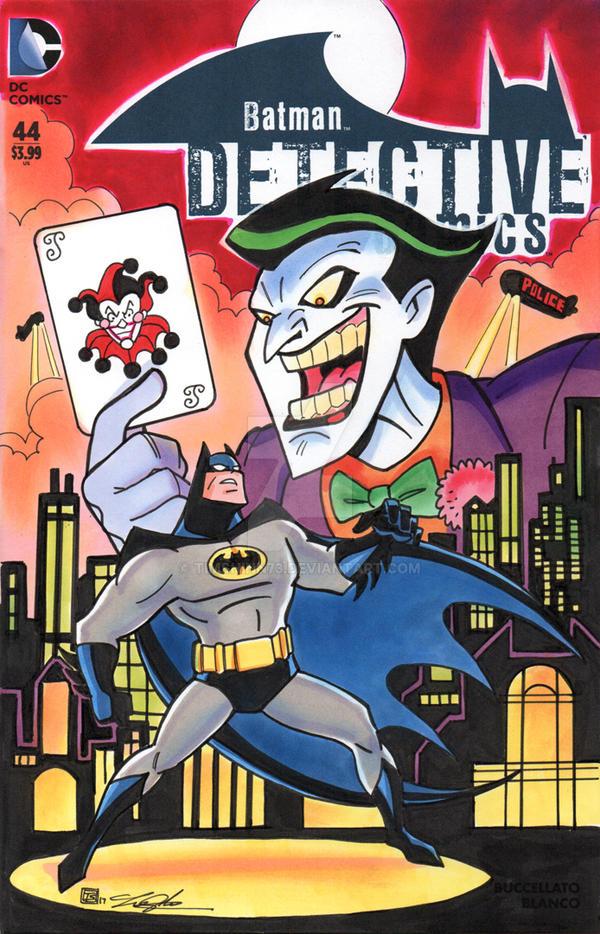 Batman Joker Detective Comics Sketch Cover by timshinn73