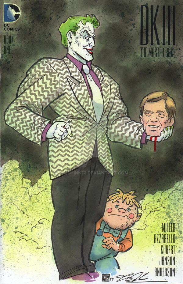 Dark Knight DKIII Joker Sketch Cover by timshinn73