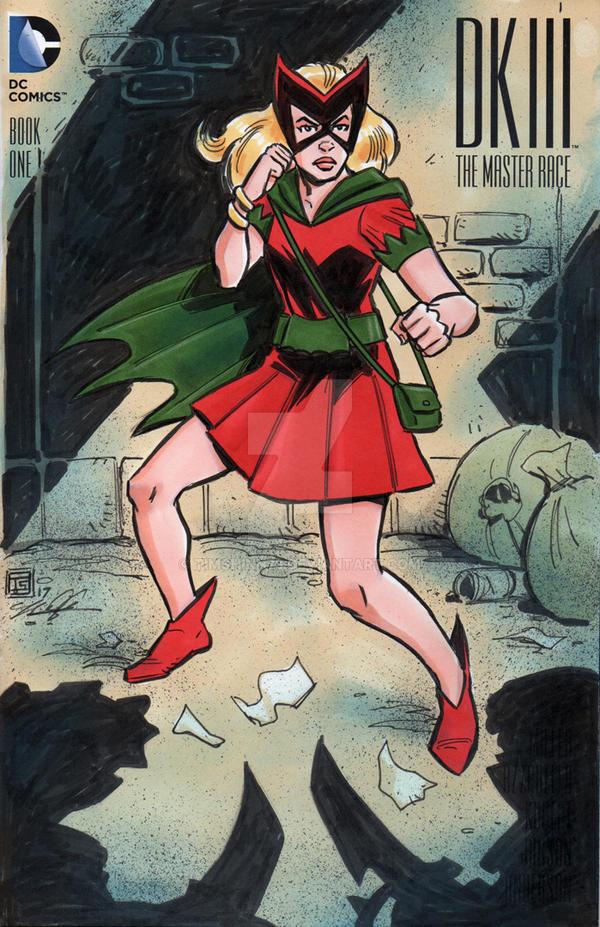 DKIII Batgirl Sketch Cover by timshinn73