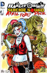 Harley Quinn and Killer Croc Sketch Cover