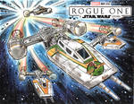 Rogue One Y-Wing Sketch Cover Commission