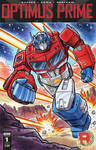 Transformers Optimus Prime Sketch Cover