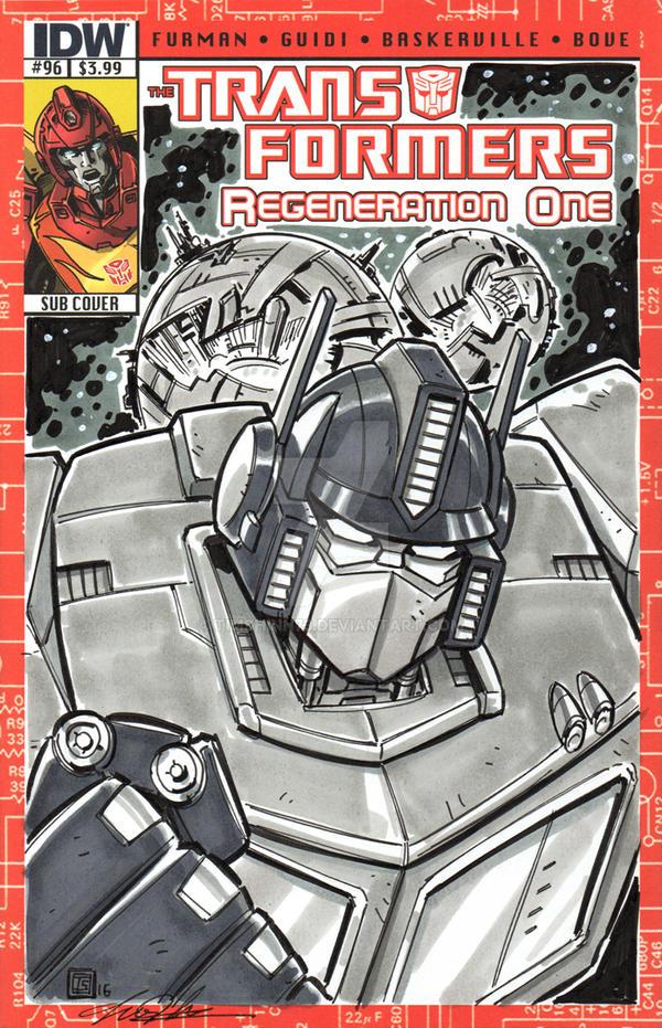 Transformers Optimus Prime Sketch Cover by timshinn73