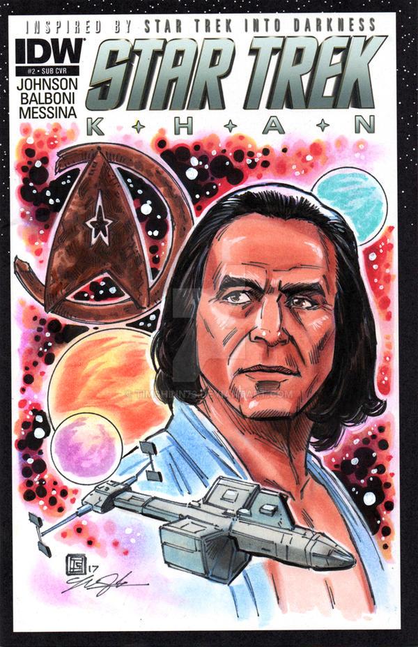 Star Trek Khan Sketch Cover Commission by timshinn73