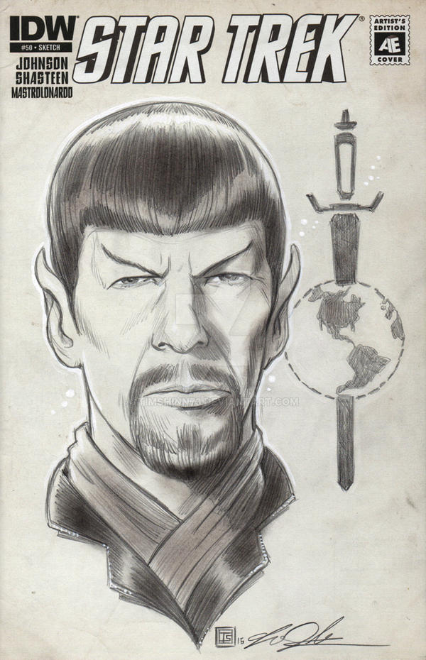 Star Trek Mirror Spock Sketch Cover Commission by timshinn73