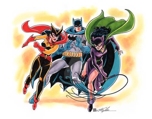 Batman Batwoman and Catwoman Commission