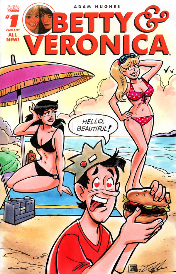 Betty and Veronica Sketch Cover by timshinn73
