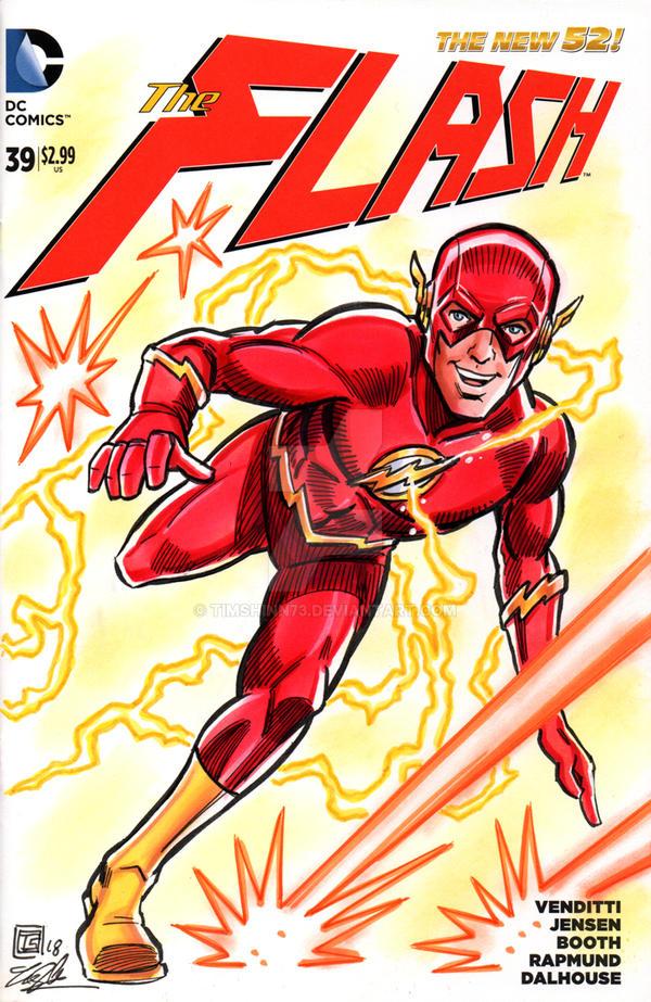 The Flash Sketch Cover by timshinn73
