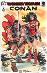 Wonder Woman Conan Sketch Cover