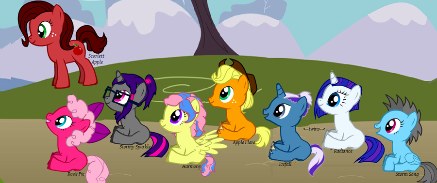children of the mane 6 by the emo cowgirl on deviantart