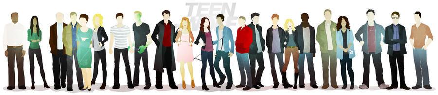 - TEEN WOLF cast - by puckboum