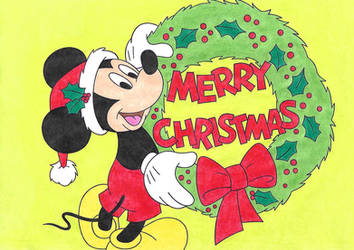 Merry Christmas from Mickey Mouse!