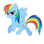 Rainbow Dash Showing Off
