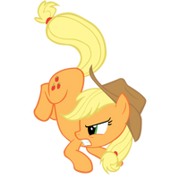 A Pillowfight With Applejack by theaceofspadez