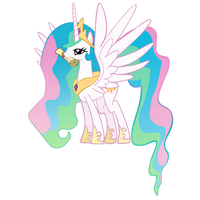 Celestia Taking the Letter by theaceofspadez