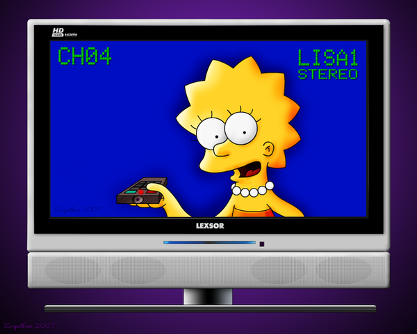 Lisa on TV 2 by Fragsey