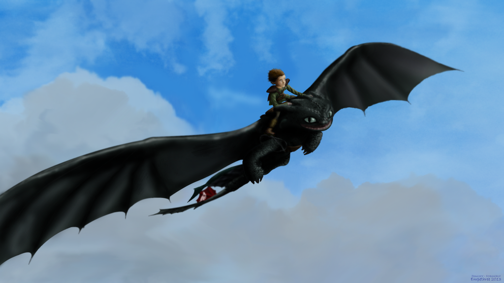 Hiccup and Toothless's Epic Flight by Fragsey on DeviantArt