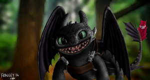 Toothless From Sketch - Digital Painting.