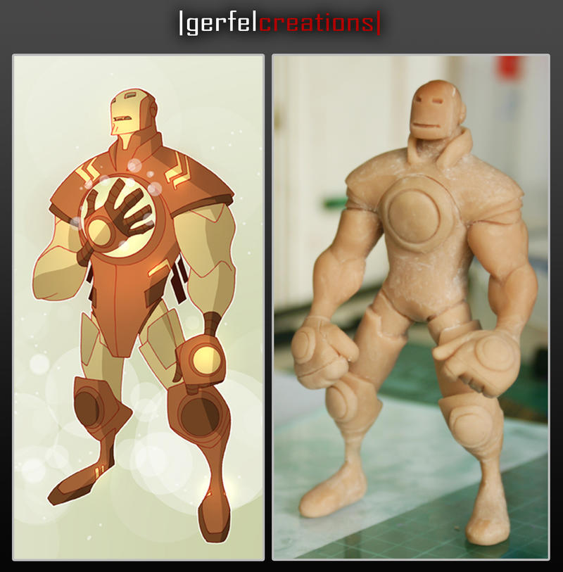 Ironman sculpey unpainted by NeverBlink