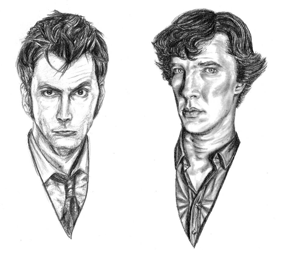 The Doctor and Sherlock by akatsukicloud227