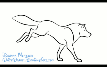 Simple dog coloring page - Running Wolf By Deazea On Deviantart