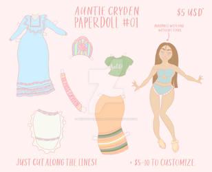 Auntie Cryden Paper Doll #01 by BridgetteAnnalyse